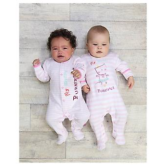 The Essential One Baby Girls Mummy Purrfect Sleepsuits - 2 Pack