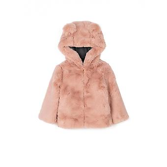 Zippy Faux Fur Coat Rose