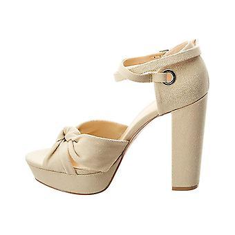 Daya door Zendaya Womens missie stof Open teen Casual enkel riem sandalen