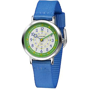 JACQUES FAREL Kids Wristwatch Analog Quartz Boys Textile Ribbon COP 03 Blue