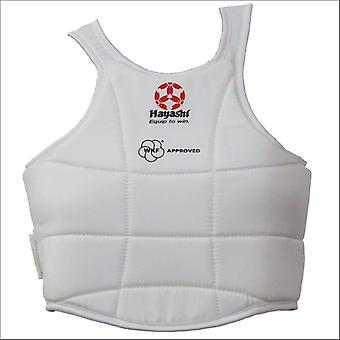 Hayashi wkf approved chest guard white
