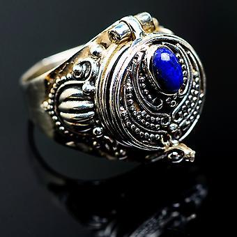 Grande Lapis Lazuli Poison Ring Taille 7,25 (925 Sterling Silver) - Bijoux Boho Vintage ring995009