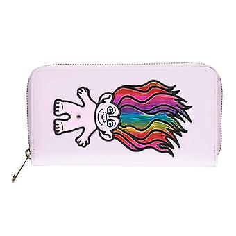 Trolls Purse Rainbow Troll Logo new Official Purple Zip Around