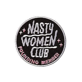 Punky pins nasty femei club brodate de fier pe patch