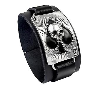 Alchemy Pewter Bracelet Ace of Dead Spades