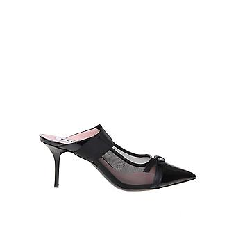 Msgm 2841mds356733899 Women's Black Leather Slippers