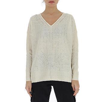 Gentry Portofino D736isg0011 Women's White Cotton Sweater