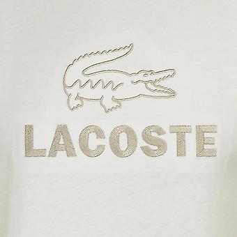ラコステ メン&アポス 白ロゴ T シャツ