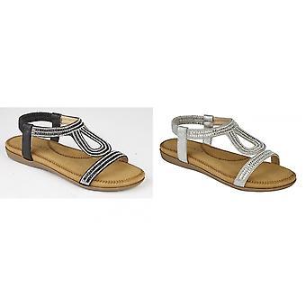 Cipriani femmes/dames Nicole Diamante élastiquée dos nu sandales