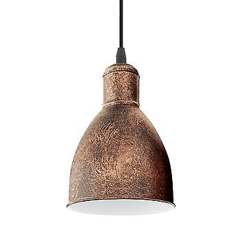 Eglo Priddy 1 één hanger licht In Antiek koper