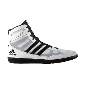 Adidas Mat Wizard 3 Mens Adult Wrestling Trainer chaussure Boot White/Black