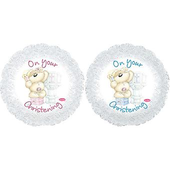Creative Party Fizzy Moon On Your Christening Foil Balloon