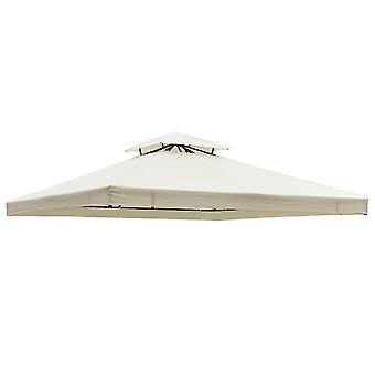 Outsunny 3m x 3m Marquee Gazebo Canopy Roof Top Cover Replacement Cream