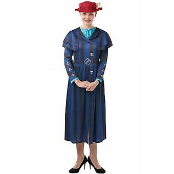 Mary Poppins Returns Womens/Ladies Mary Poppins Costume