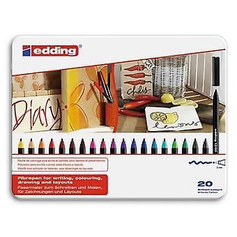 edding-1300 ass.color pen 20PC 3 mm / 4-1300-20