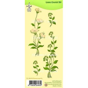 Leane Creatief Flower Swirls Clear Stamp