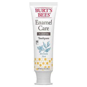 Burt's bees enamel care fluoride toothpaste, mountain mint, 4.7 oz