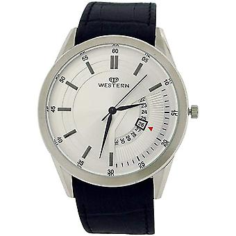 Western Moments Vernier Gents Analgoue Date Feature Black Leather Smart Watch