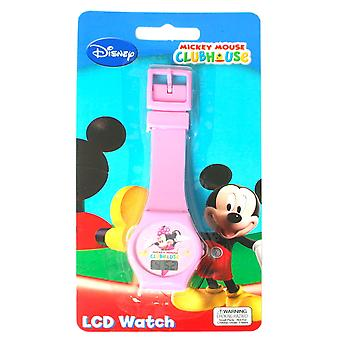 Disney Mini Mouse Clubhouse Digital Pink Strap Girls Watch