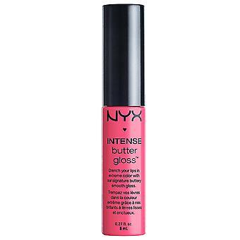 NYX MAQUIAGEM PROFISSIONAL Intense Butter Gloss, Pink Macaroon, 0.27 Fluid Ounce