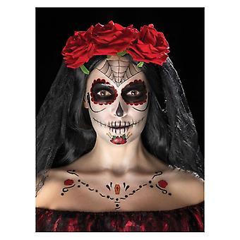 Tag der Toten Gesicht Tattoo Transfer Kit