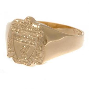 Liverpool 9kt guld Crest Ring Medium
