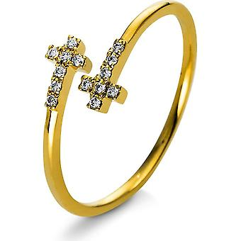 Diamond Ring Ring - 18K 750/- Yellow Gold - 0.06 ct. - 1R413G853 - Ring width: 53