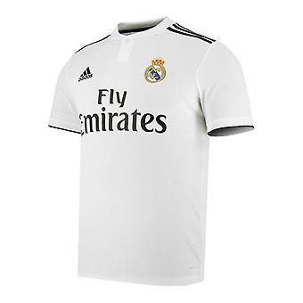 Män's Kortärmad fotbollströja Adidas Real Madrid Vit 18/19 (1 )/XL
