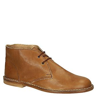 Tan calf italian leather men's chukka boots handmade