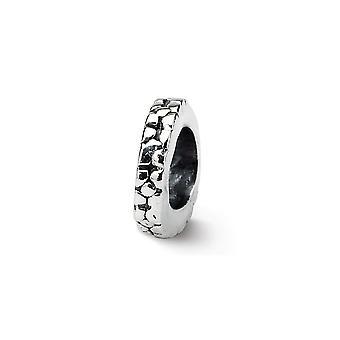925 Sterling Silver finition Réflexions Floral Spacer Bead Charm Pendant Necklace Bijoux Cadeaux pour les femmes
