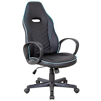 Vinsetto Executive w/ Wheels PU Leather Rocking Office/ Gaming Chair Adjustable Padded Seat Blue