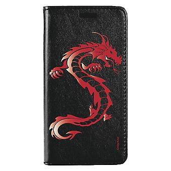 Case For Huawei Mate 10 Pro Black Red Dragon Pattern