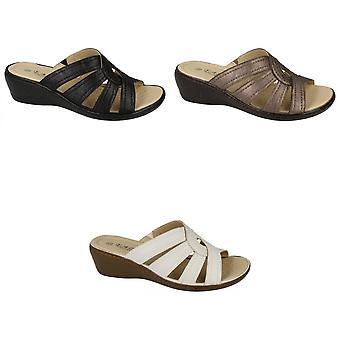 Eaze Womens/Ladies Peep Toe Sandals