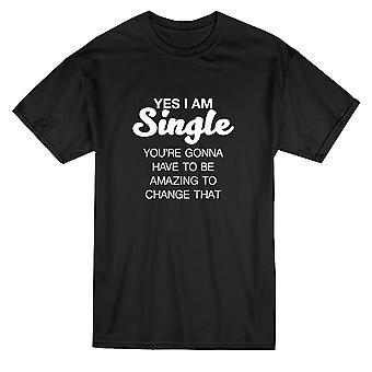 Да я один быть удивительный графические Мужская футболка