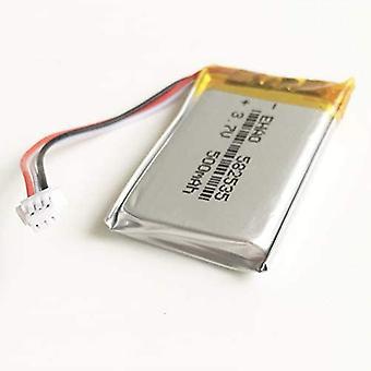 YUNIQUE Italia ® 1 Pezzo Batteria Litio Ricaricabile 3.7 V 500 mAh con Connettore JST 1.0 Millimetri 3pin 582535 per Mp3 GPS Bluetooth Macchina Fotografica