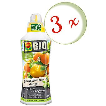 Sparset: 3 x COMPO BIO citrus plant fertilizer, 500 ml