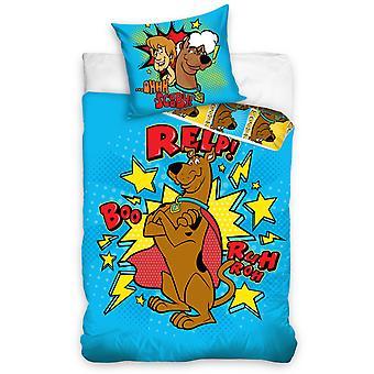 Scooby Doo Blue Single Peřina Set - Evropská velikost