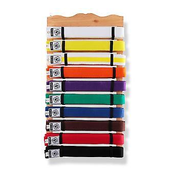 Bytomic 10 nivå trä bälte Display Rack