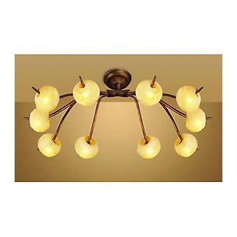 Wave 10 Bulbs G9 Ceiling Light, Rustic Gold