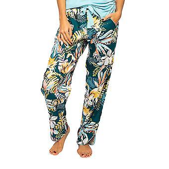 Cyberjammies Valerie 4532 Kvinnor & apos; s Emerald Mix Flamingo Print Pyjama Byxa