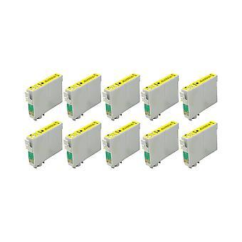 RudyTwos 10 x reemplazo para unidad de tinta Epson Caballito amarillo Compatible con Stylus Photo R200, R220, R300, R300M, R320, R325, R330, R340, R350, RX300, RX320, RX500, RX600, RX620, RX640