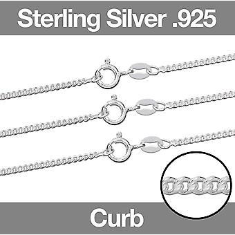 Sterling Silver .925 Kettingketen Curb Jewellery Chain 7.5