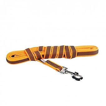 "Julius-K9 Color & Gris Super-Grip Correa Naranja-Gris Ancho (0.7"" / 20mm) Longitud (16ft / 5 m) Con Mango, Max para 110lb / 50 kg Perro"