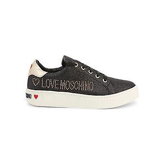 Love Moschino - sapatos - tênis - JA15163G18IL_0000 - senhoras - preto,ouro - EU 40