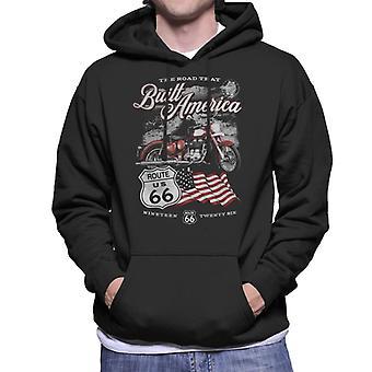 Route 66 Road That Built America Men's Hooded Sweatshirt