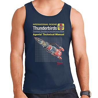 Thunderbirds 3 Manuel technique Hommes-apos;s Veste