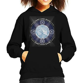 The Crystal Maze Shining Core Kid's Hooded Sweatshirt