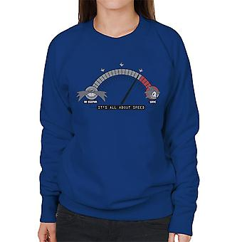 Sonic The Hedgehog Its All About Speed Women's Sweatshirt