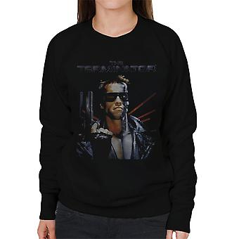 Terminator Distressed Movie Poster Shot Women's Sweatshirt