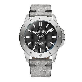 Meccaniche Veneziane 1303006 Arsenale Automatic Grey Leather Wristwatch